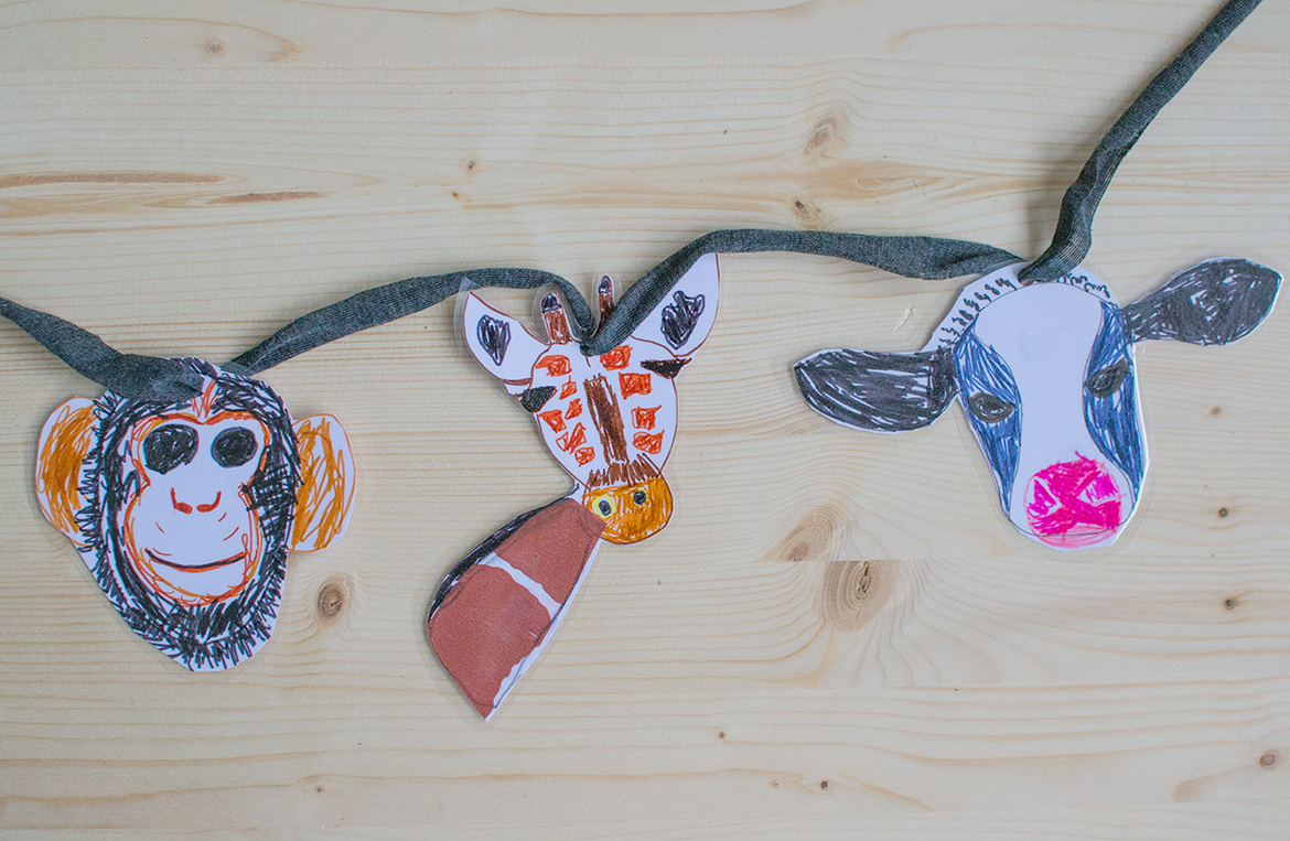diy cardboard garlands for kids