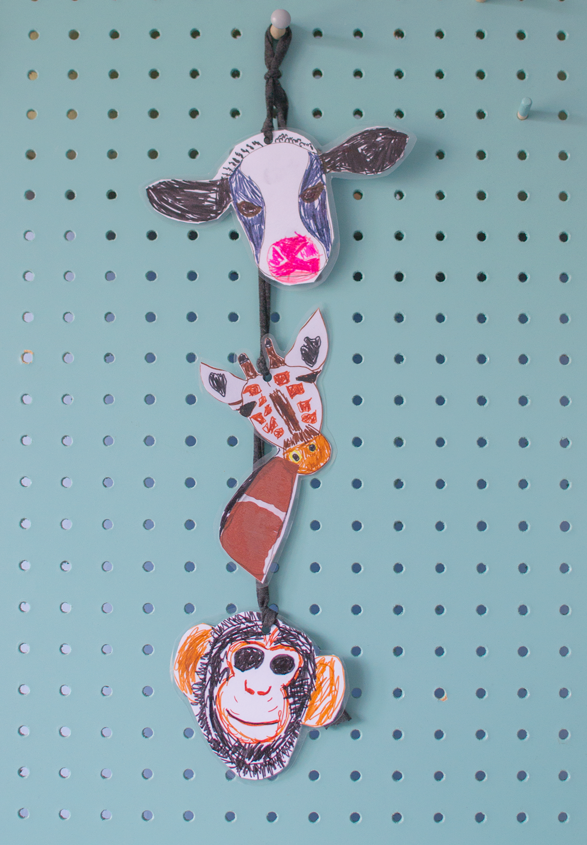 illustrated animal cardboard garlands