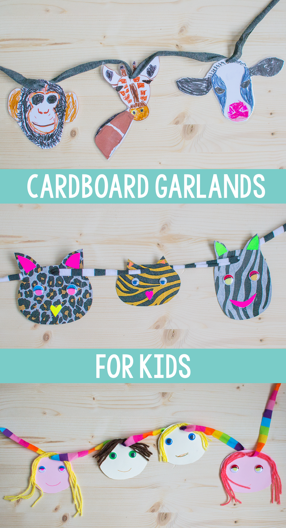 cardboard garlands for kids
