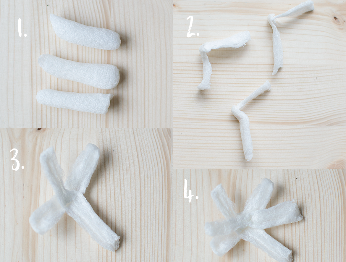 turn packing peanuts into pretty flowers with this simple craft tutorial