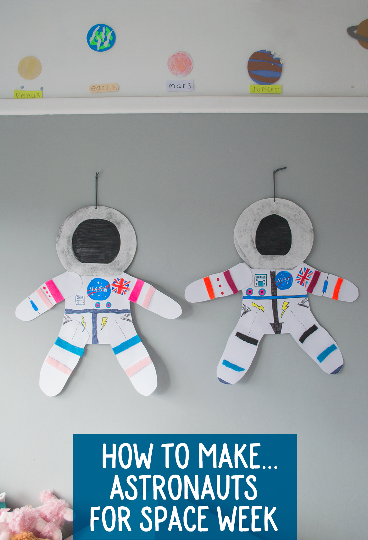 Kid's Crafts: Making Astronauts For Space Week - Let's Do ...